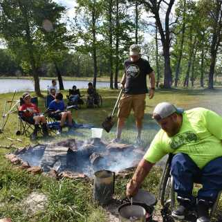 Helping physically challenged people participate in outdoor activities